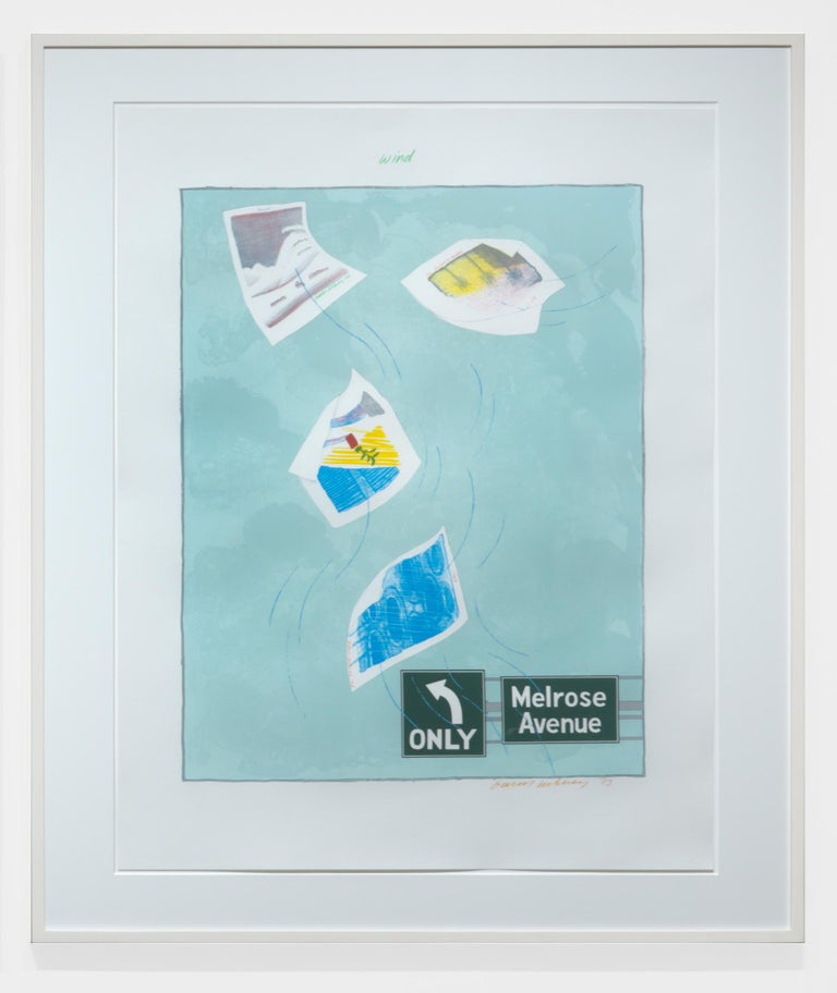 David Hockney Landscape Print - Wind
