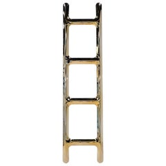 Heat Collection Drab Hanger in Gold Stainless Steel by Zieta