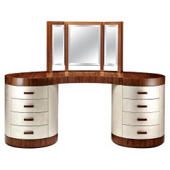 "Davidson's Contemporary, ""Chrysler"" Dressing Table, in American Black Walnut"