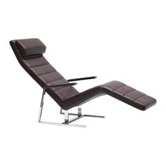 De Sede Stepped Leather Longue Chair by Christophe Marchand