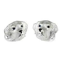 Deakin & Francis Sterling Silver Retriever Dog Cufflinks