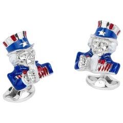 Deakin & Francis Sterling Silver Uncle Sam Cufflinks