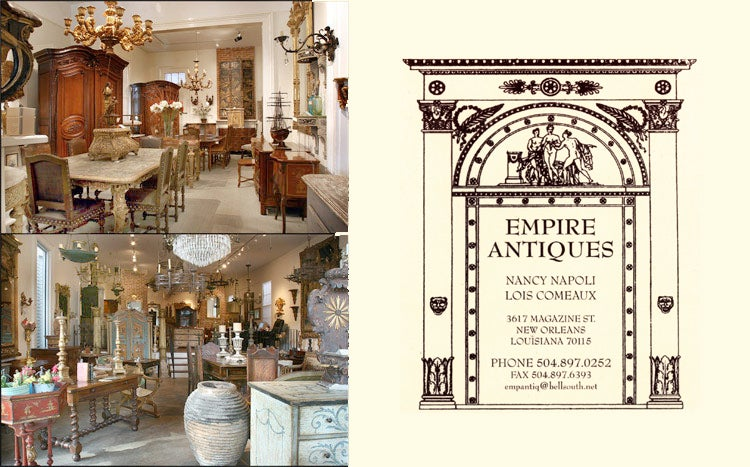 Empire antiques home page for Empire antiques new orleans