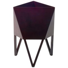 Deca Planter in Glossy Maroon Steel, Large, by Force/Collide