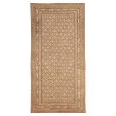 Decorative Antique Khotan Rug. Size: 8 ft 10 in x 17 ft 8 in (2.69 m x 5.38 m)