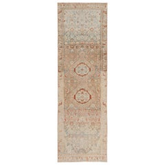 Decorative Antique Persian Malayer Runner Rug. Size: 3 ft x 9 ft 6 in