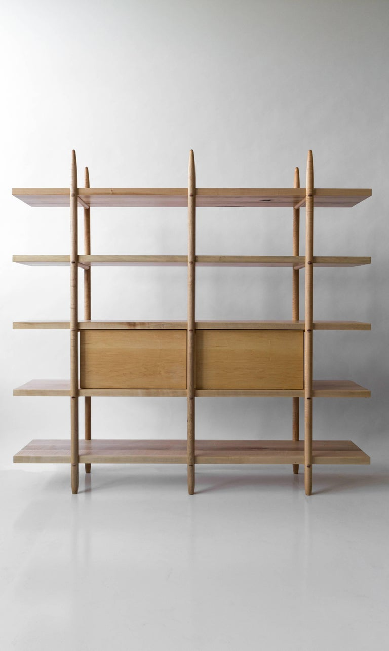 Deepstep Shelving Modular Storage with Fine Wood Detailing by Birnam Wood Studio For Sale 6