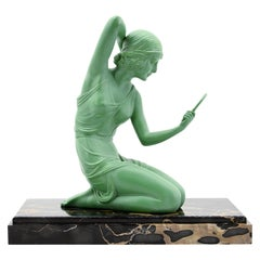"""Demetre Chiparus """"Coquetry"""" Spelter Statue, 1920s"""