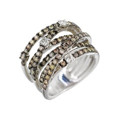 Designer Fashion Fine Jewelry White Diamond Gold Ring