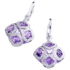 Chopard Imperiale Amethyst Diamond white Gold  Earrings
