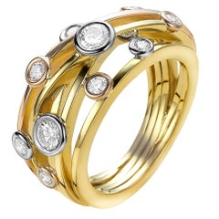 Diamond and Yellow Gold Van der Veken Varens Ring