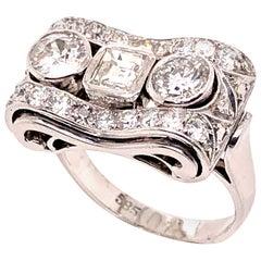 Diamond Cocktail Ring, 1950s
