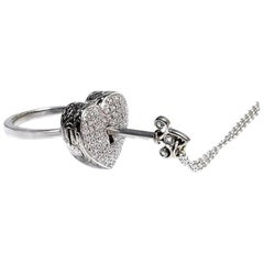 Diamond Heart Locket Victorian Poison Ring