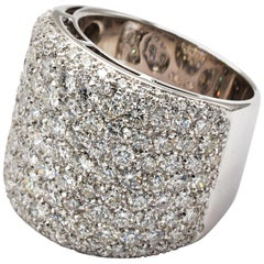 Diamond Paveè White Gold Ring Made in Italy