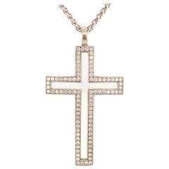 Diamond White Gold 750 Cross Pendant
