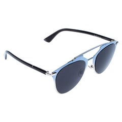Dior Blue/Black Reflected Aviator Sunglasses