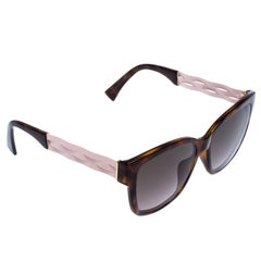 Dior Brown/Pink Ribbon N1 Square Sunglasses