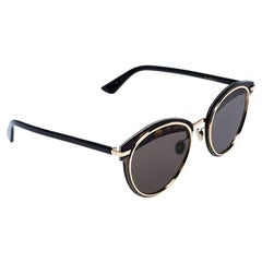 Dior Gold and Black Havana/Brown Dior Offset1 Round Sunglasses