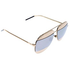 Dior Gold/Grey Diorsplit1 Aviator Sunglasses