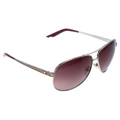Dior Silver Tone/ Brown Gradient Diorcinquate2 Aviator Sunglasses