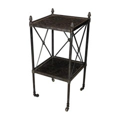 Directoire Style Bronze Side Table