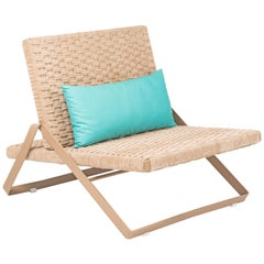 Dobra Outdoor Lounge Chair in Chenille Soft Rope by Filipe Ramos