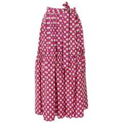 Documented Yves Saint Laurent Peasant Skirt & Stole, Spring-Summer 1977