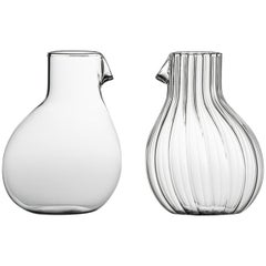 Dodò Low Mouth Blown Glass Carafe Designed by Matteo Cibic