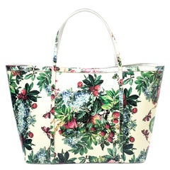 Dolce and Gabbana Multicolor Floral Print Patent Leather Miss Escape Tote