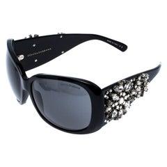 Dolce & Gabbana Black DG 4040-G Crystal Embellished Oversize Sunglasses