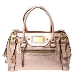 Dolce & Gabbana Metallic Pink Leather Miss Easy Way Boston Bag