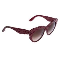 Dolce & Gabbana Red/Brown Gradient DG4267 Mama's Brocade Cat Eye Sunglasses