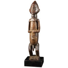 Dondo People, DRC, Wooden Statue with Scarified Body, French Private Collection