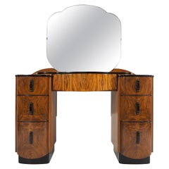 Dressing Table with Mirror by Jindřich Halabala, 1950s