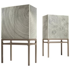 Drop Contemporary Cabinet with Artistic Intervention of Paulo Neves