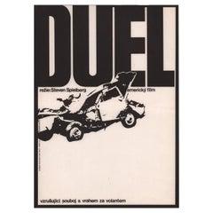 """""""Duel"""" 1975 Czech A3 Film Poster"""