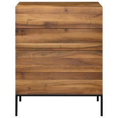 e15 Fatima Chest of Drawers with Black Steel Base by Philipp Mainzer