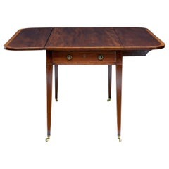 Early 19th Century Mahogany Cross Banded Pembroke Table