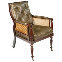 Early 19th Century Regency Bergère Library Chair