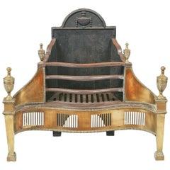 Early 19th Century Regency Neoclassical Firegrate after Robert Adam