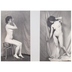 Early 20th Century French Erotica Nude Art Photographs