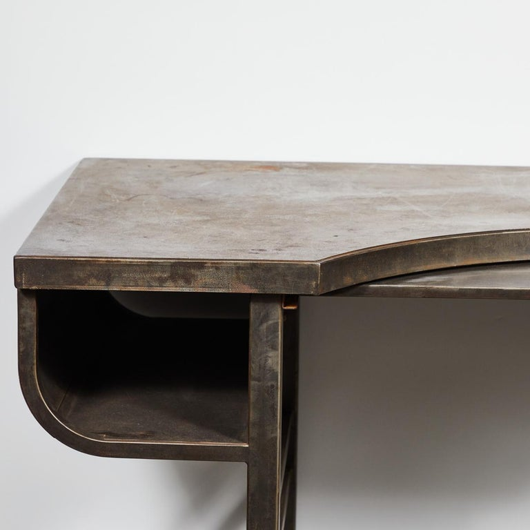 Edwardian Early 20th Century French Metal Postmasters Desk For Sale