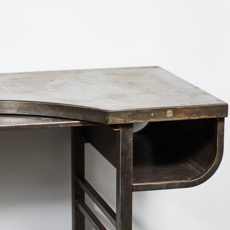Early 20th Century French Metal Postmasters Desk In Good Condition For Sale In Los Angeles, CA