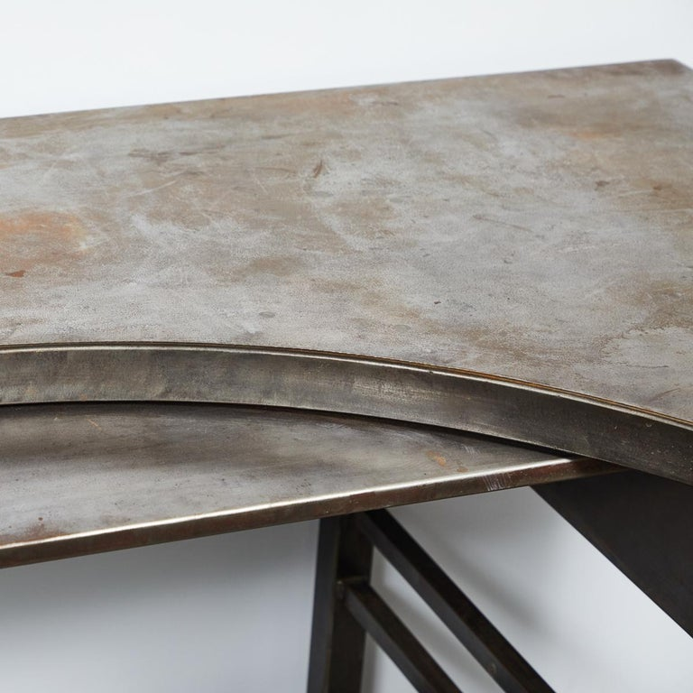 Early 20th Century French Metal Postmasters Desk For Sale 1