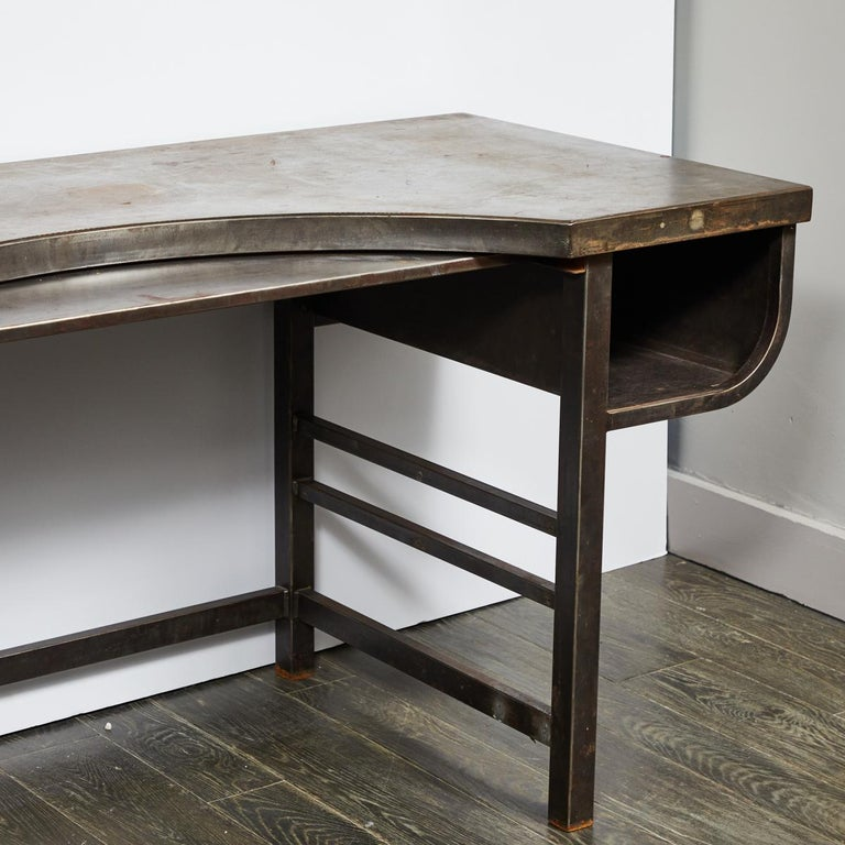 Early 20th Century French Metal Postmasters Desk For Sale 2