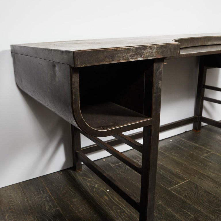 Early 20th Century French Metal Postmasters Desk For Sale 3