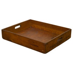 Early 20th Century Wooden Baker's Bread Tray with Dovetail Joints
