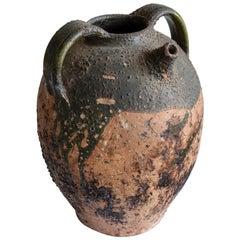 Earthenware Walnut Oil Pot France, 19th Century