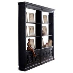 Ebonised Shop Cabinet
