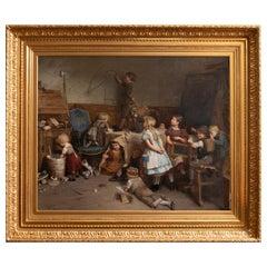 Eduard Schulz-Briesen, La Recreation 'Recess' circa 1875 Eduard S